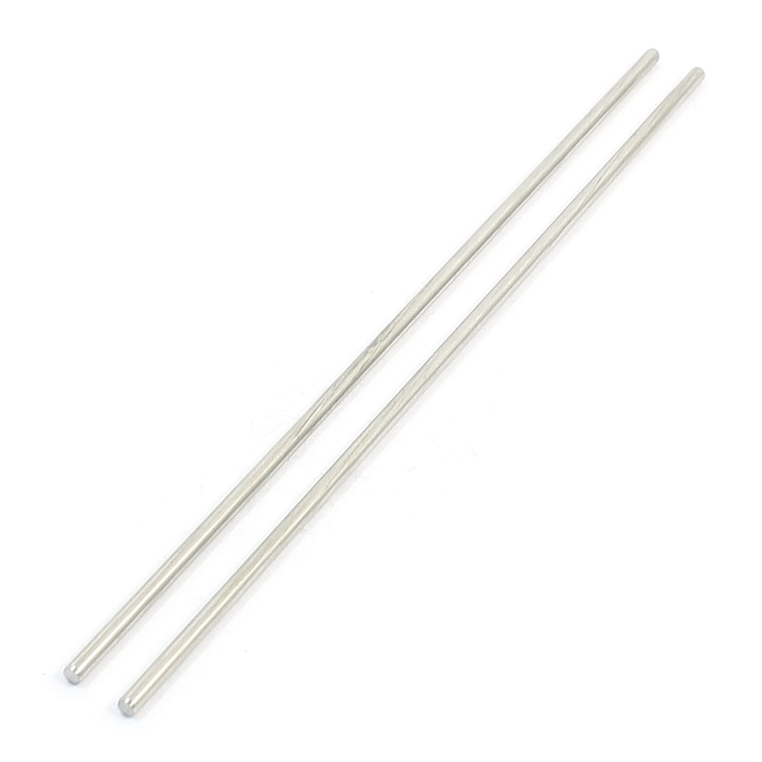 "2Pcs 2.5mm Diameter Stainless Steel Motion Axle Circular Round Rod Bar 5.9"" Long"