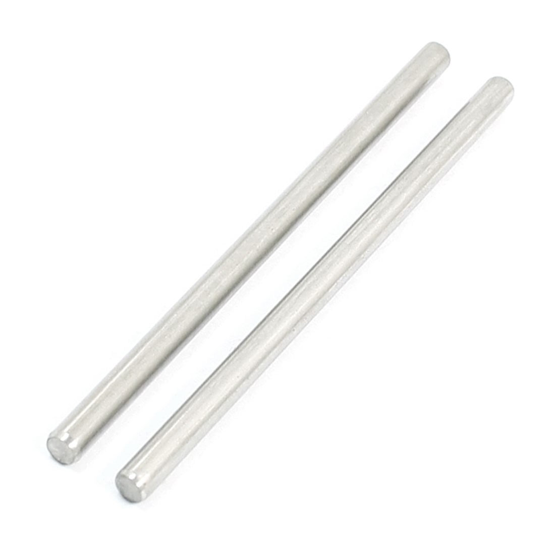 "2Pcs 3mm Diameter Stainless Steel Motion Axle Circular Round Rod Bar 2.4"" Long"