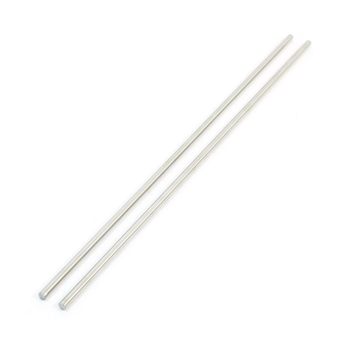 "2Pcs 3mm Diameter Stainless Steel Motion Axle Circular Round Rod Bar 7.9"" Long"