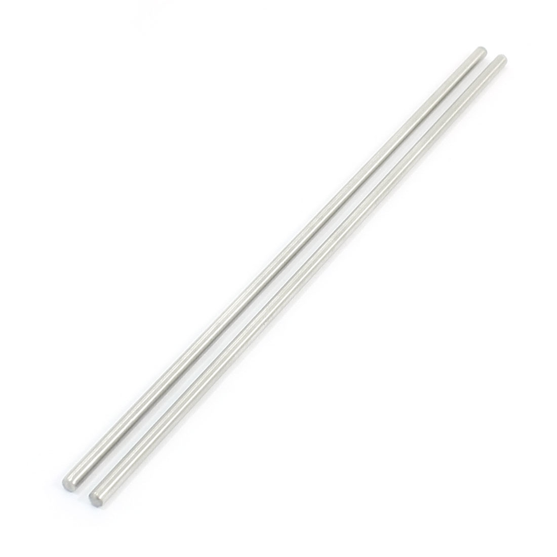 "2Pcs 3mm Diameter Stainless Steel Motion Axle Circular Round Rod Bar 6.7"" Long"