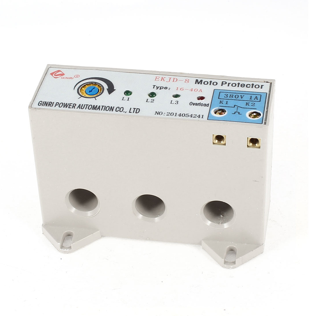 EKJD-8/16-40A 3 Phase 16-40 Ampere Adjustable Current Breaker Motor Circuit Protector Non Power