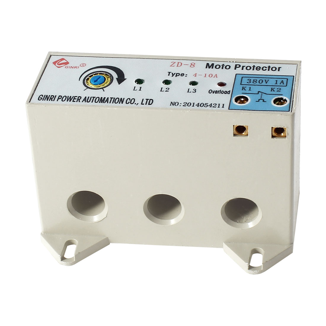 ZD-8/4-10A 3 Phase 4-10 Ampere Adjustable Current Breaker Motor Circuit Protector Non Power