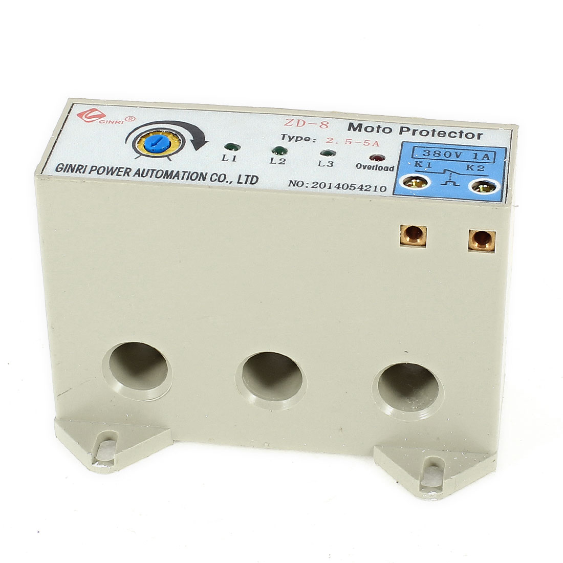 ZD-8/2.5-5A 3 Phase 2.5-5 Ampere Adjustable Current Breaker Motor Circuit Protector Non Power