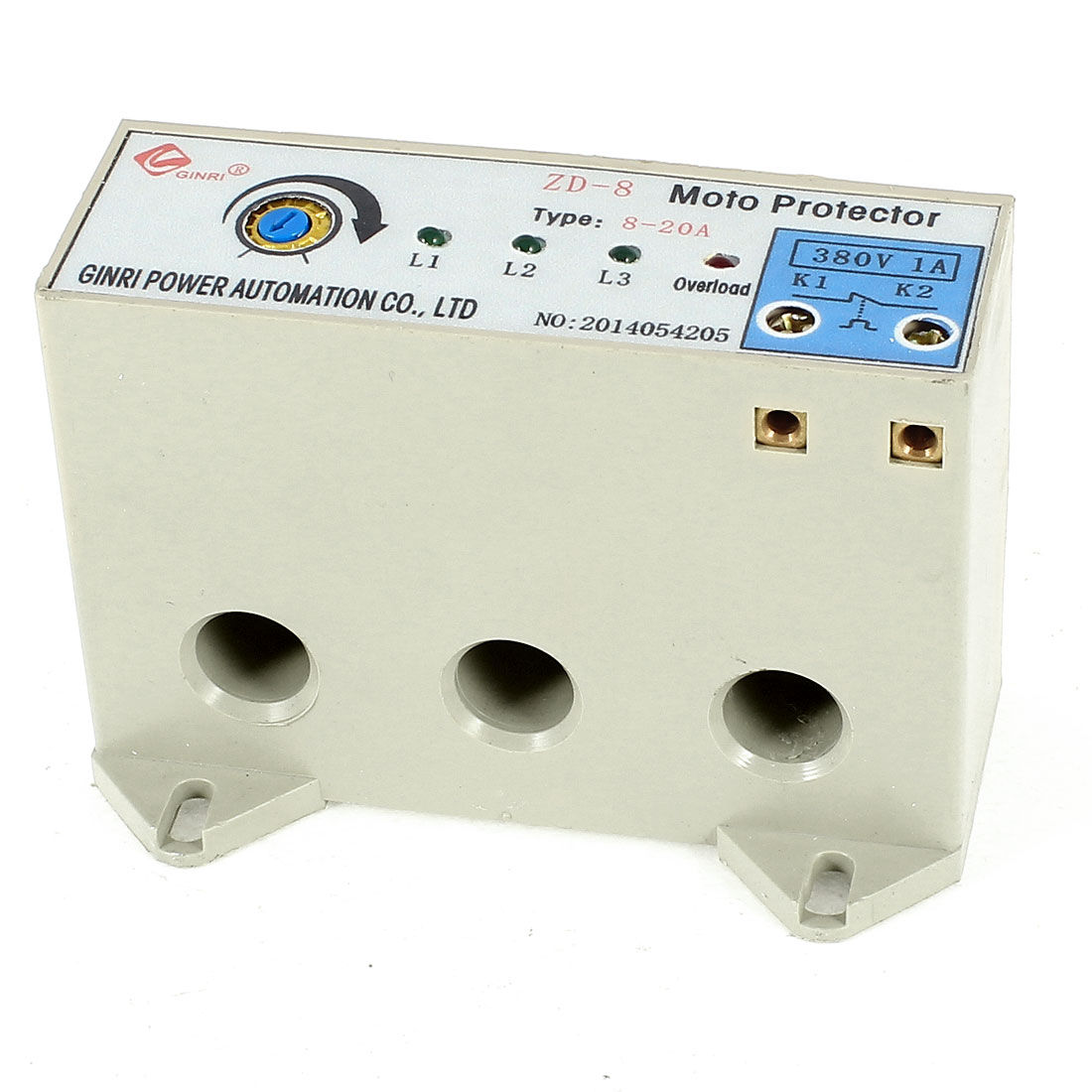 ZD-8/8-20A 3 Phase 8-20 Ampere Adjustable Current Breaker Motor Circuit Protector Non Power