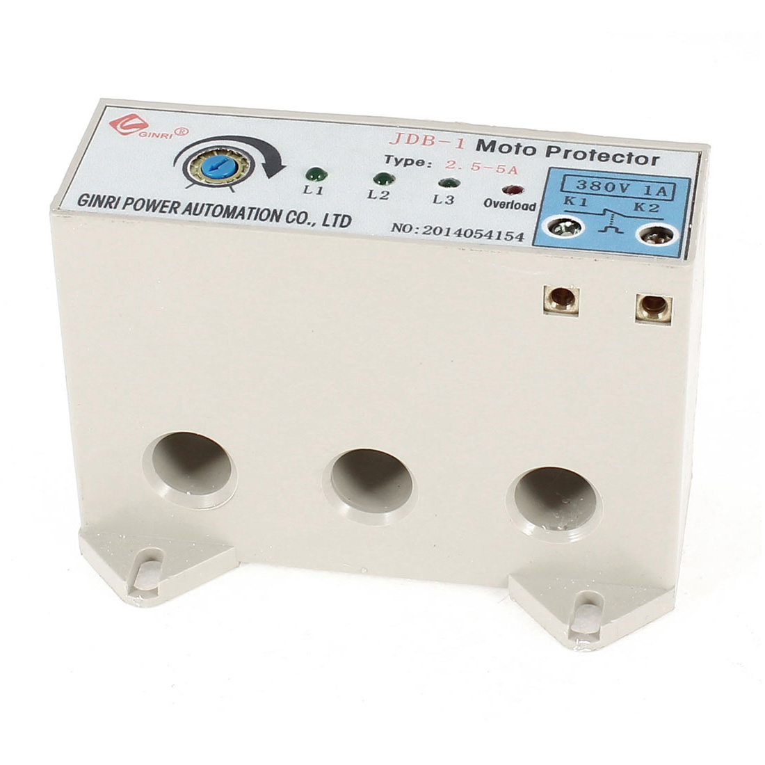 JDB-1/2.5-5A 3 Phase 2.5-5 Ampere Adjustable Current Breaker Motor Circuit Protector Non Power