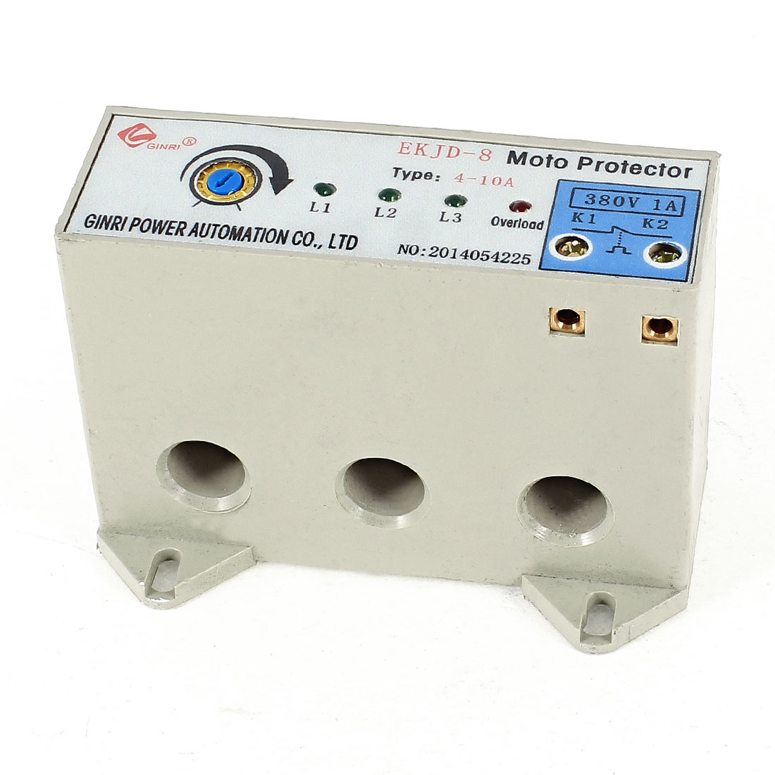 EKJD-8/4-10A 3 Phase 4-10 Ampere Adjustable Current Breaker Motor Circuit Protector Non Power