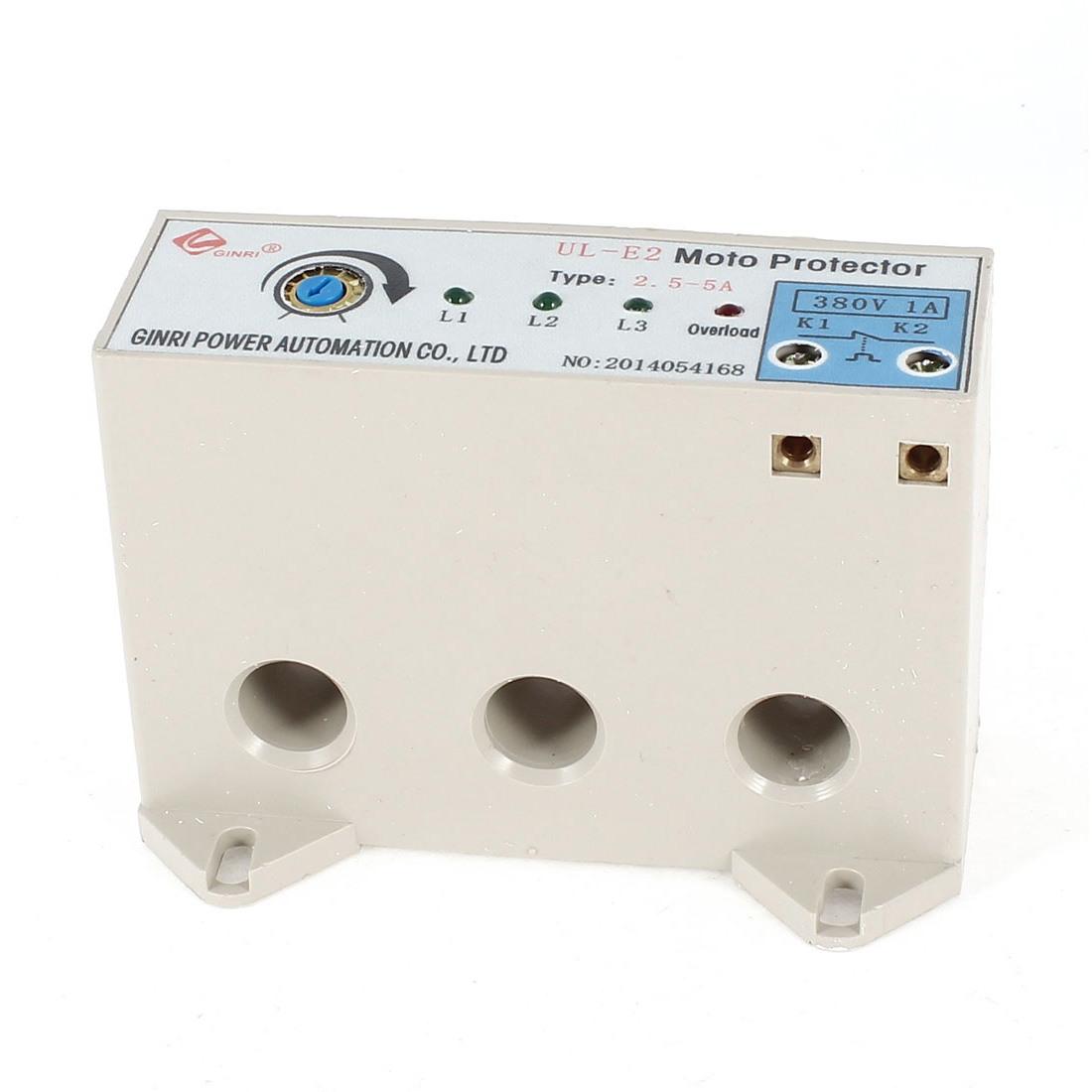 UL-E2 3 Phase Adjustable Current Motor Circuit Protector 2.5-5 Ampe