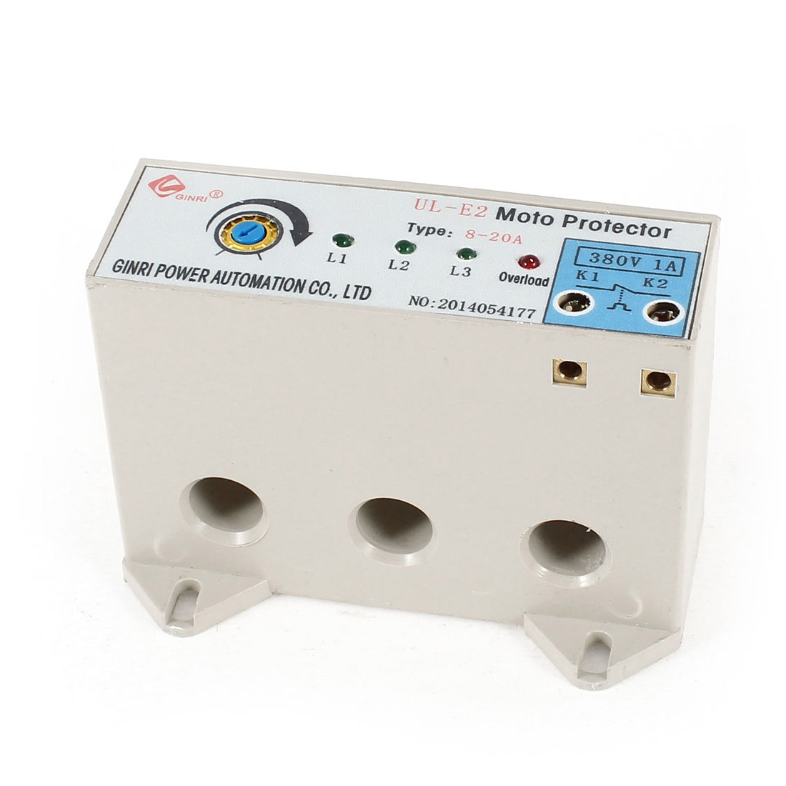 UL-E2/8-20A 3 Phase 8-20 Ampere Adjustable Current Breaker Motor Circuit Protector Non Power