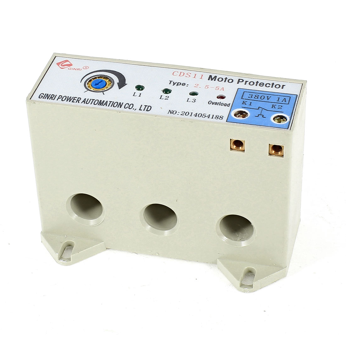 CDS-11/2.5-5A 3 Phase 2.5-5 Ampere Adjustable Current Breaker Motor Circuit Protector Non Power