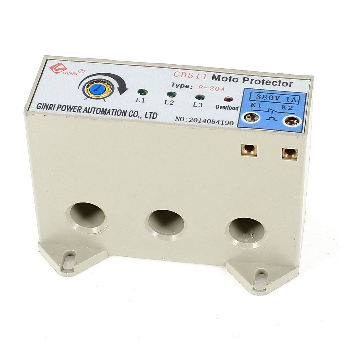 CDS-11/8-20A 3 Phase 8-20 Ampere Adjustable Current Breaker Motor Circuit Protector Non Power
