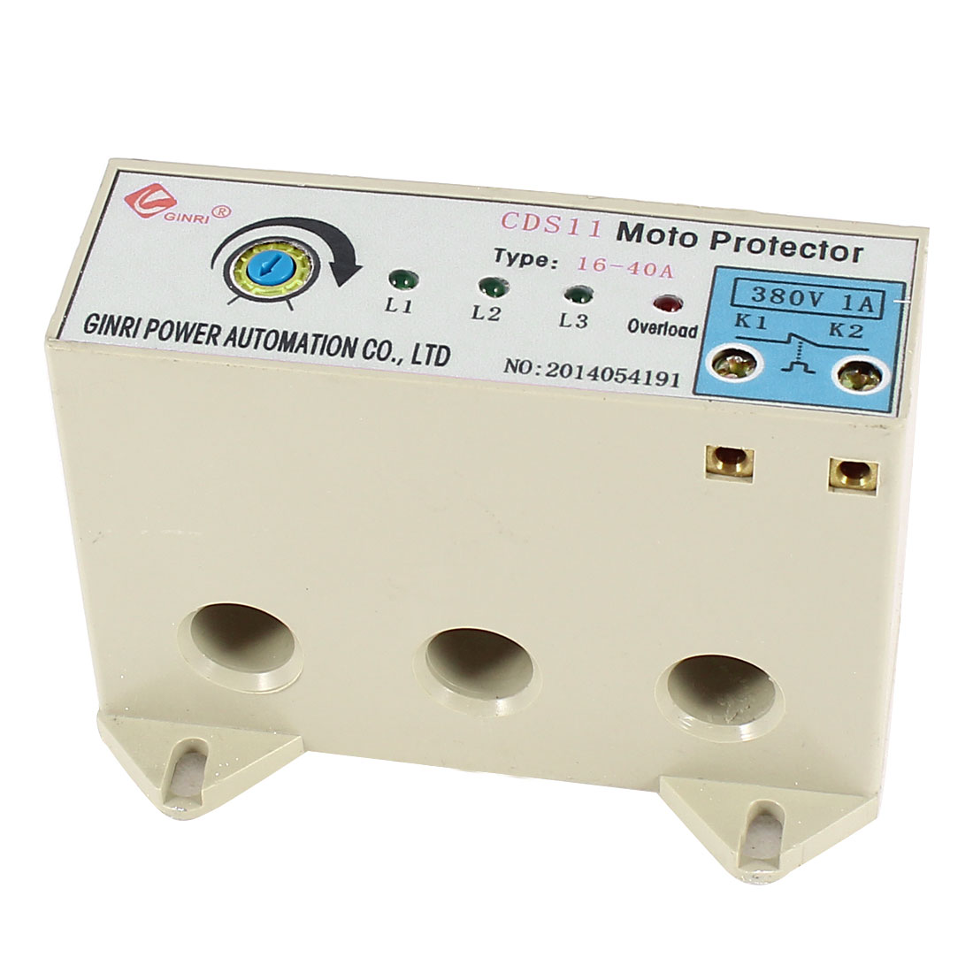 CDS-11/16-40A 3 Phase 16-40 Ampere Adjustable Current Breaker Motor Circuit Protector Non Power