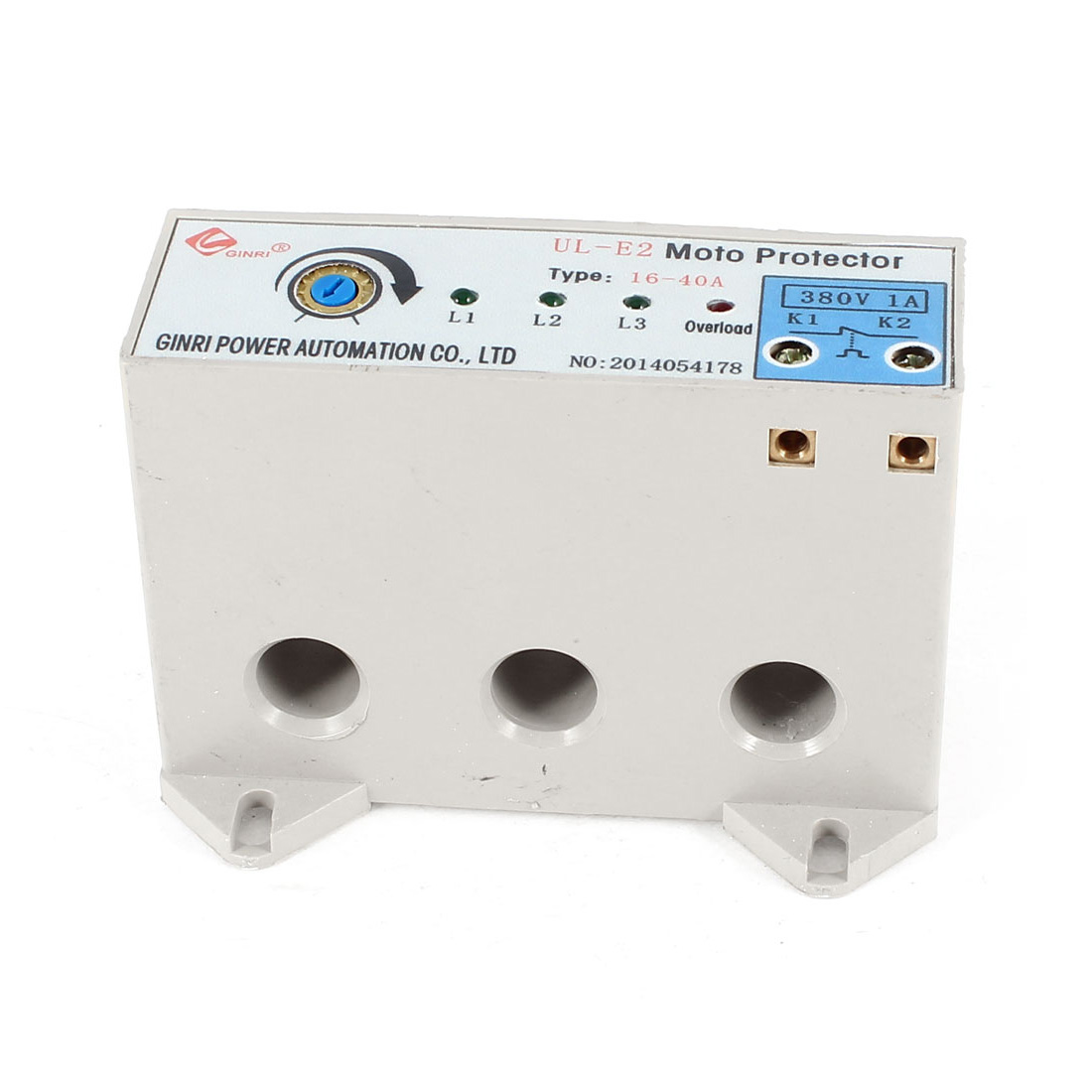 UL-E2/16-40A 3 Phase 16-40 Ampere Adjustable Current Breaker Motor Circuit Protector Non Power