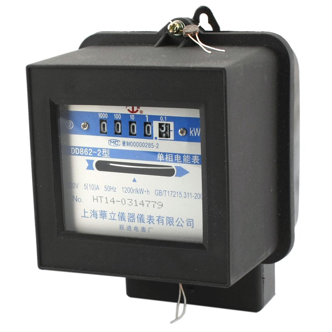 Single Phase Energy Kilo Watt-hour kwh Electric Meter AC 220V 5A