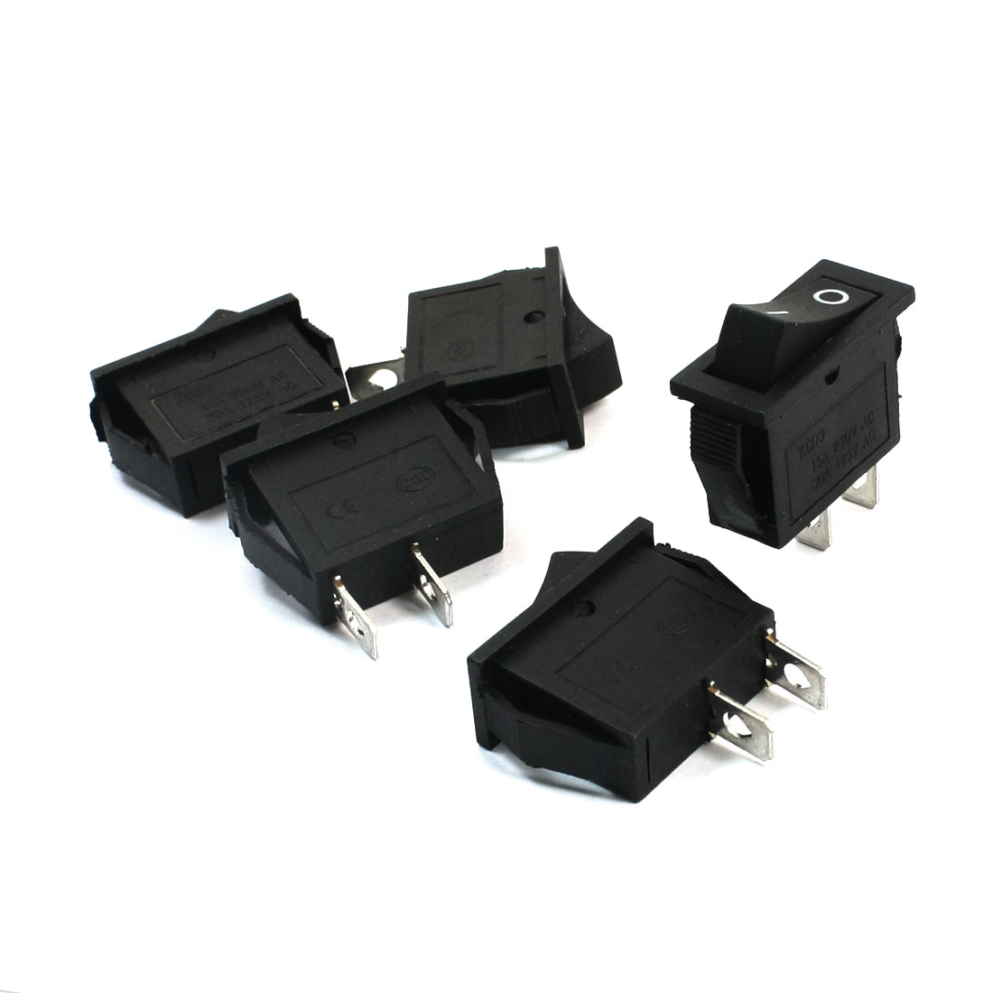5pcs KCD3 AC 250V/125V 15A/30A Latching SPST on/off 2-Position Rocker Switch