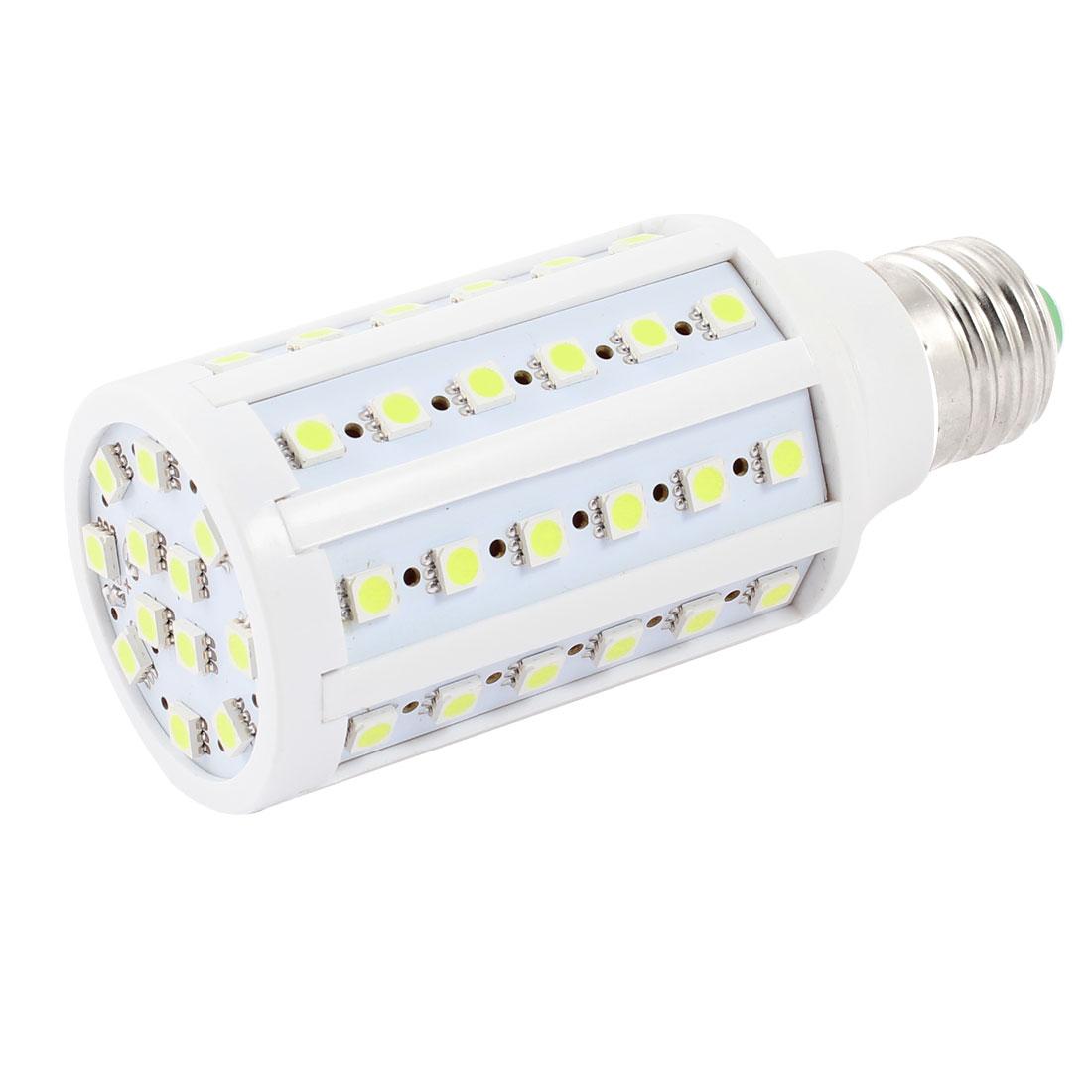 6000-6500K 12W Watt E27 Screw Base Pure White 60 SMD 5050 LED Light Bulb Lamp