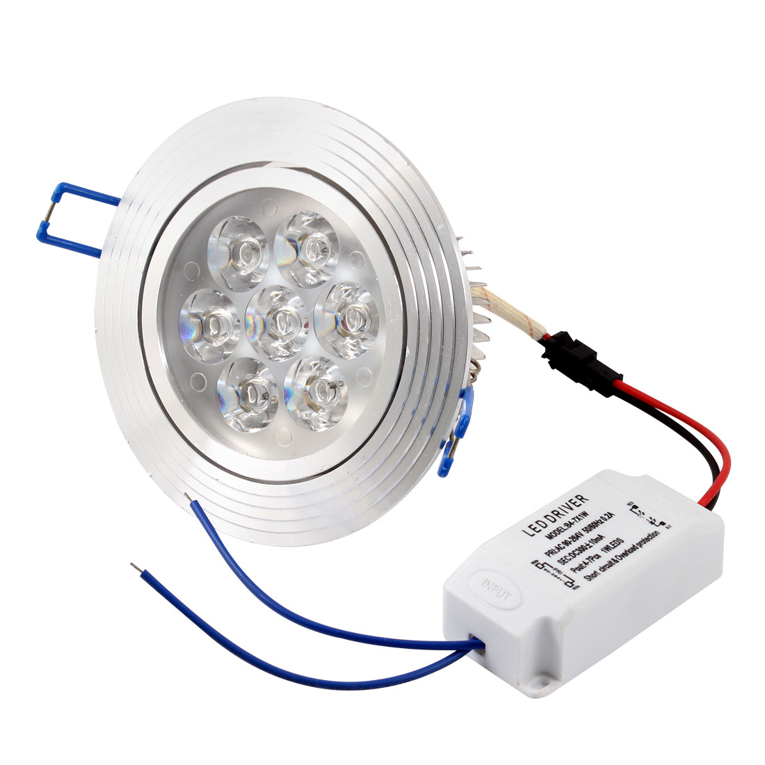 AC90V-264V 7W Warm White Ceiling Downlight Recessed Spot Lamp Bulb + LED Driver