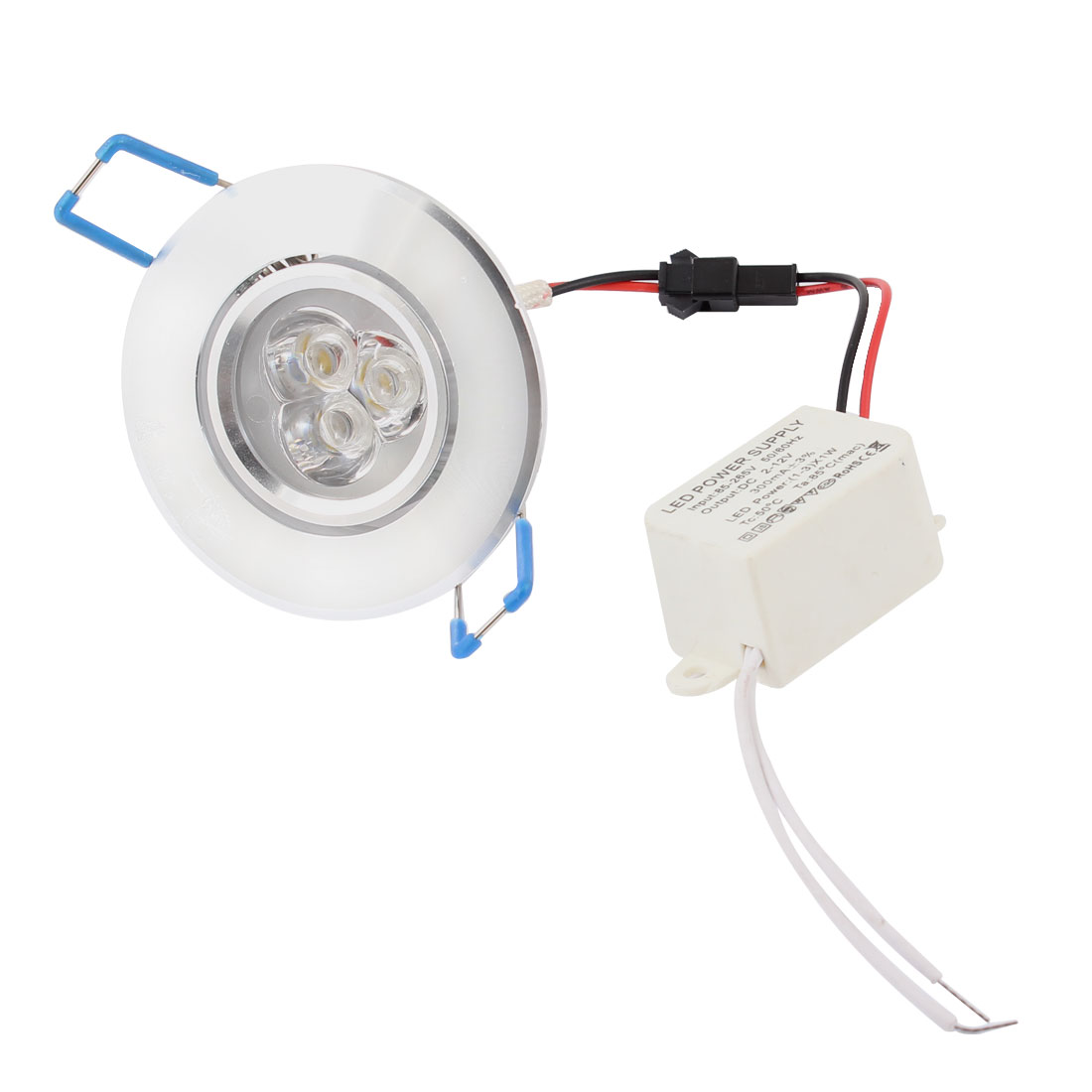 Warm White 3 LEDs Light Recessed Cabinet Ceiling Down Lamp Bulb AC100V-260V 3W