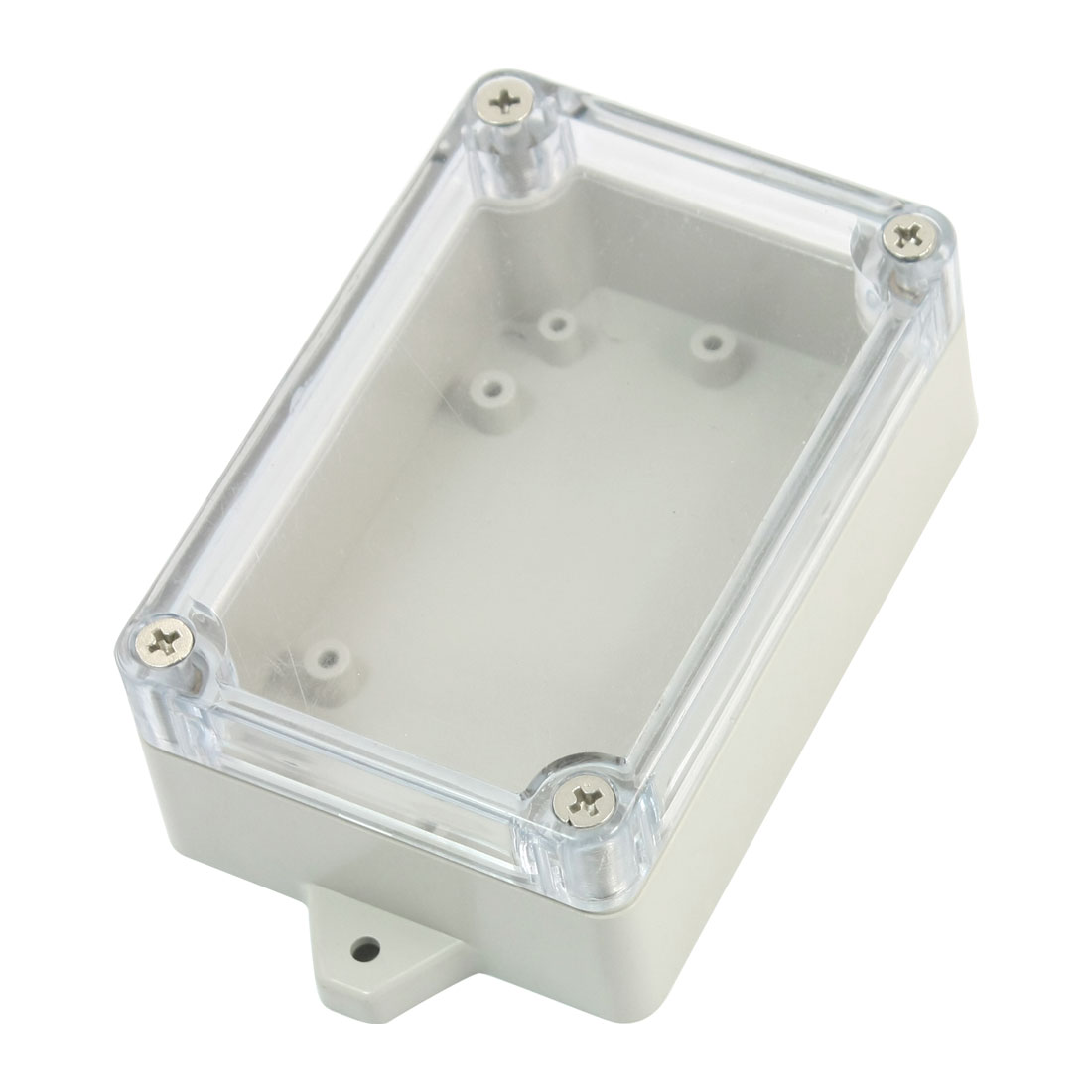 Surface Mount Rectangle Waterproof Sealed Power Protector DIY Electric Junction Box 100mm x 70mm x 40mm w Clear Cover