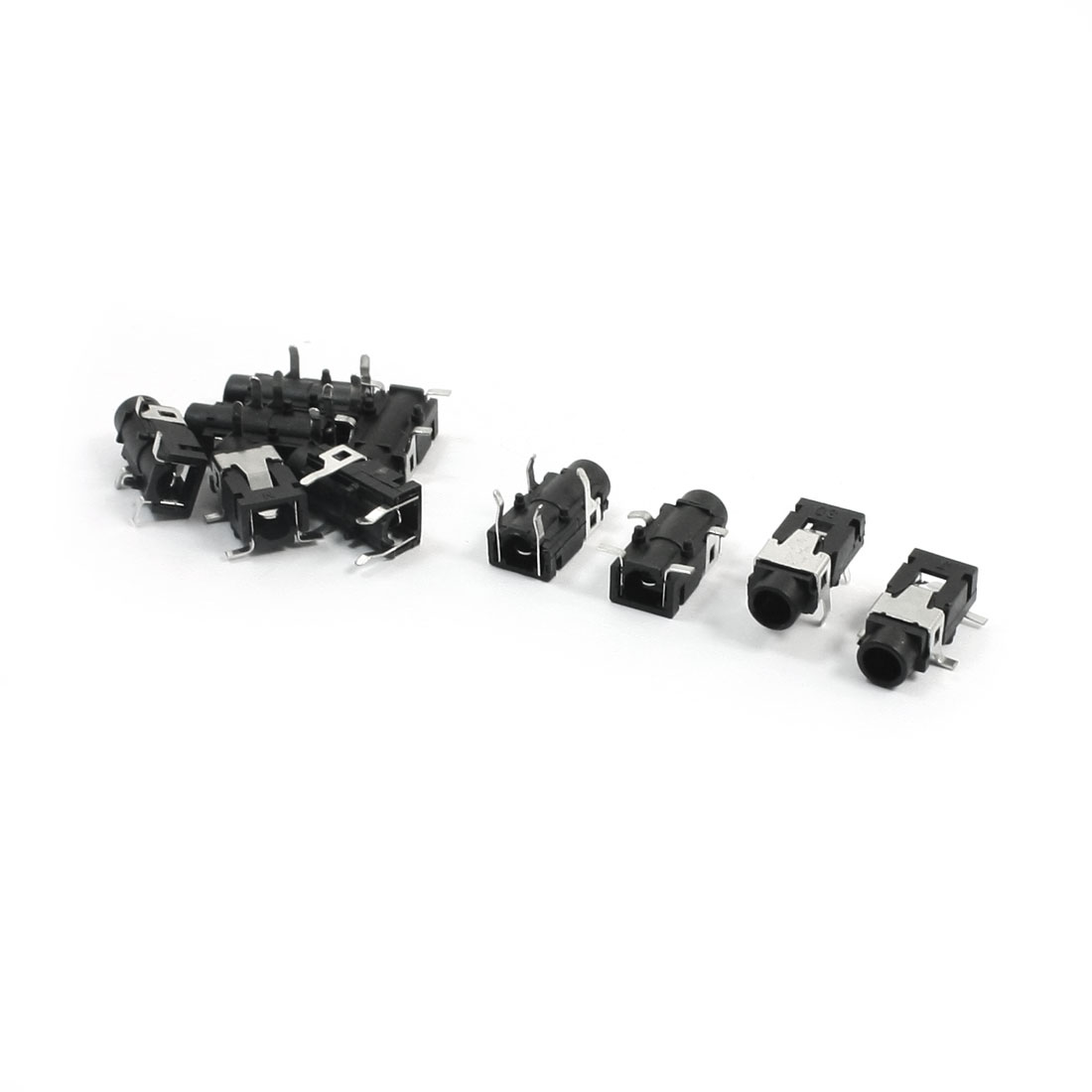 10pcs Black 4 Pin 3.5mm Stereo Jack Socket PCB Mount Connector for MP3