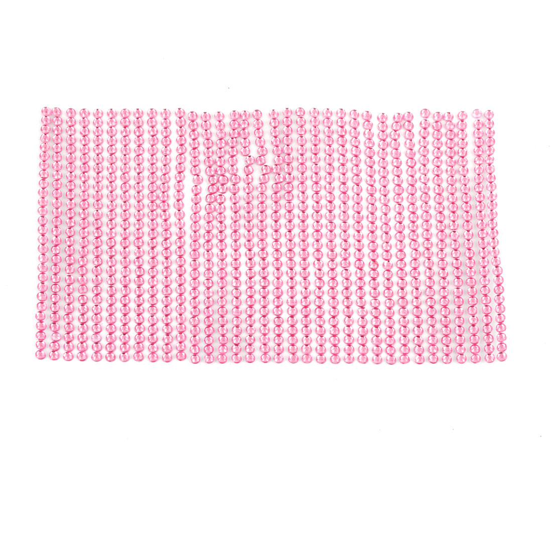 Car Self Adhesive Pink Faux Crystal Sticker Ornament 140mm x 85mm
