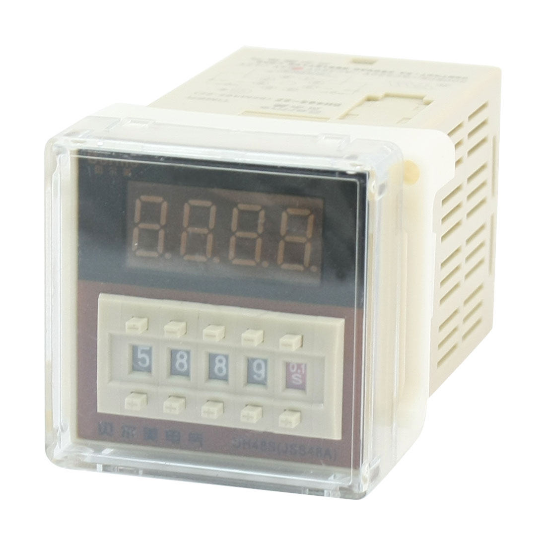 DH48S-2Z DC24V 8Pin DPDT 2NO 2NC 0.01s-9999H LED Display Programmable Adjustable Time Delay Timer Relay