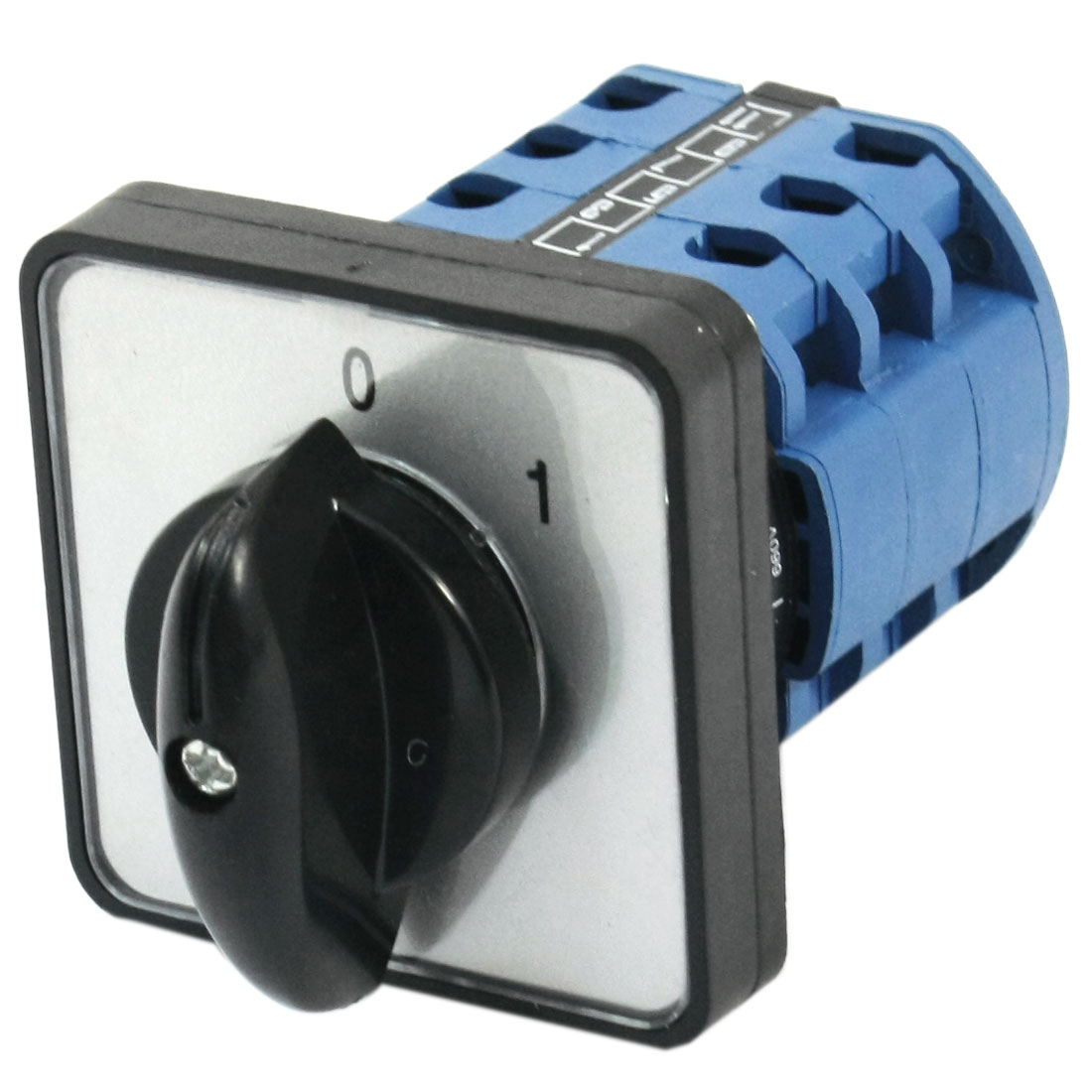 CA10 Square Plastic Panel Mounting 3-Phase 2-Position 12 Screw Terminal Universal Rotary Cam Changeover Switch