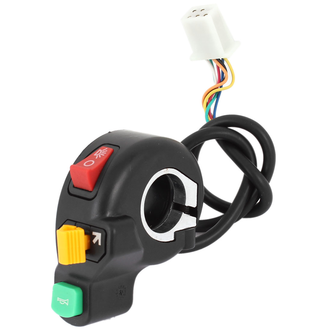 Electric Bike Cycle Plastic Headlight Turning Light Horn Master Plastic Switch Black