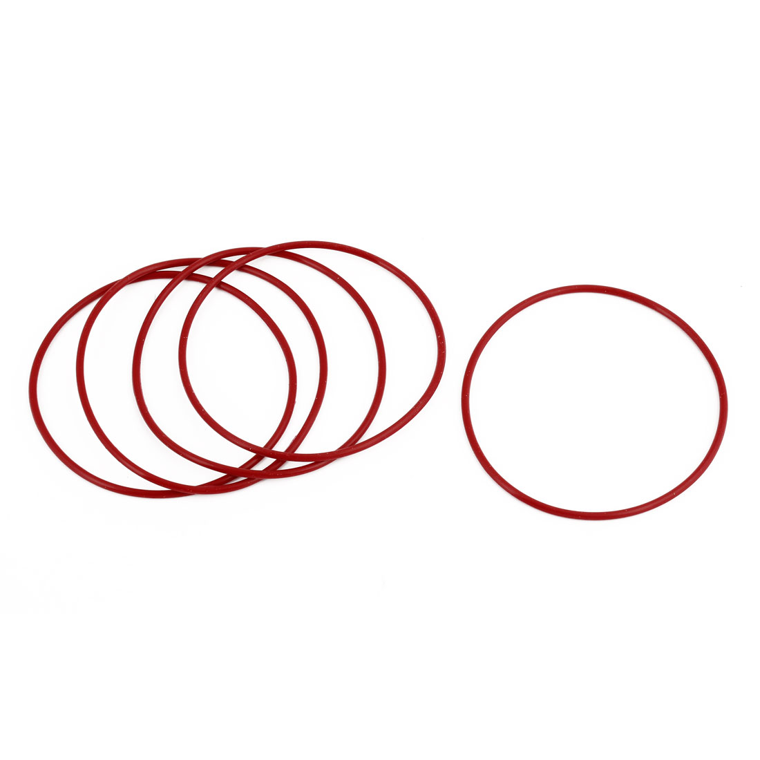 5 Pcs Red Rubber 68mm x 64mm Oil Seal O Rings Gaskets Washers