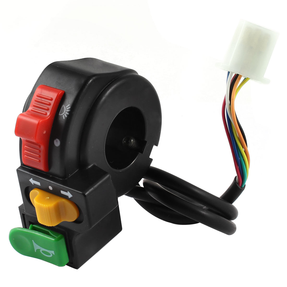 Plastic Headlight Turn Signal Light Horn Switch for Electric Bike