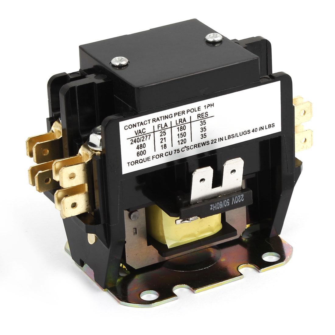 220V 50/60Hz Coil 1 Phase Air Conditioner Compressor Pump AC Contactor