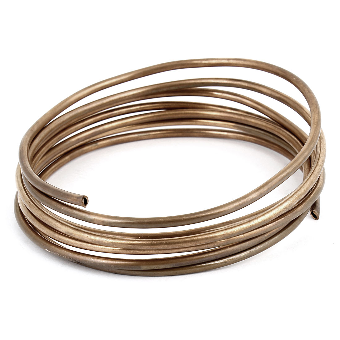 3.0mm Dia 1.8M 6Ft Length Copper Tone Refrigerator Refrigeration Tubing Coil