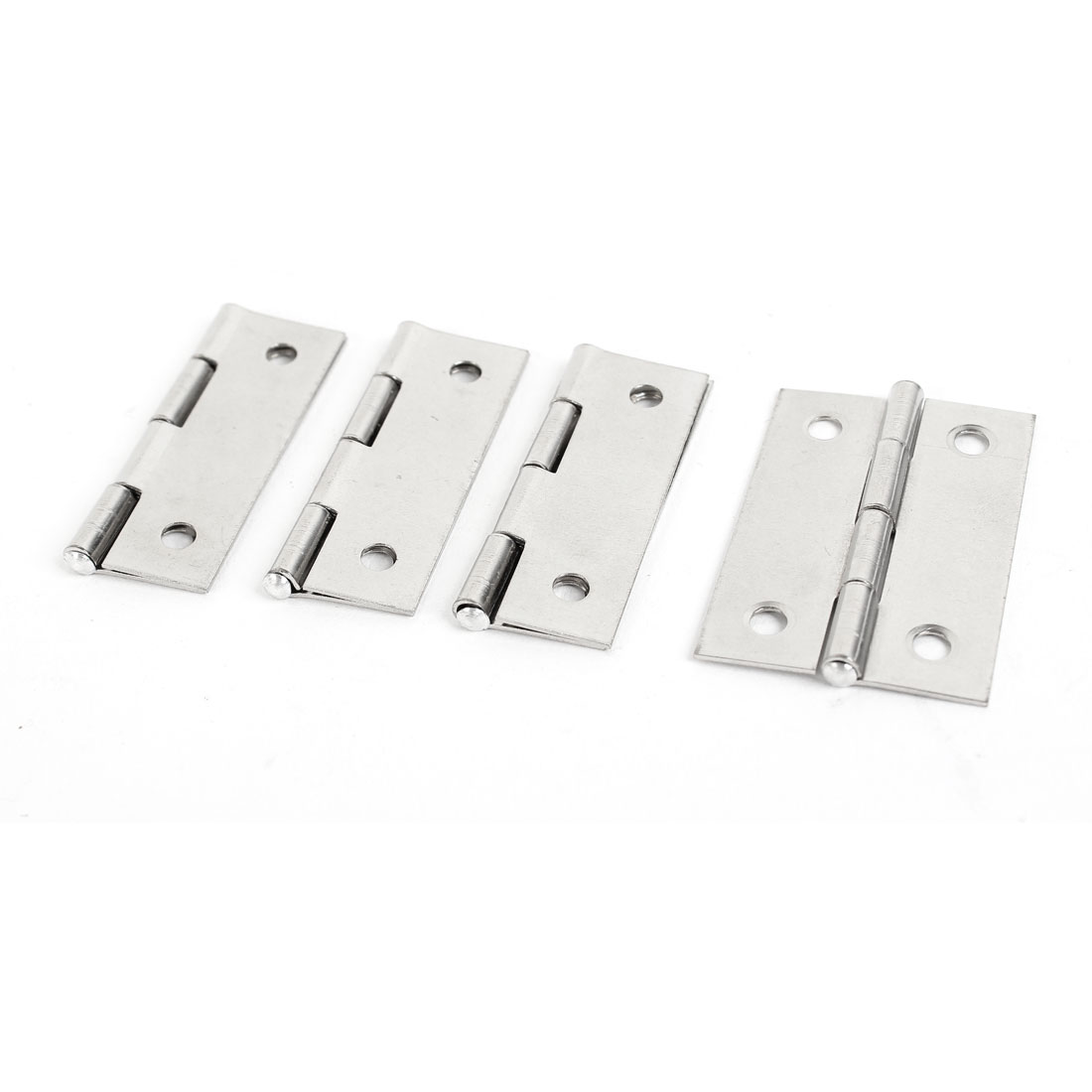 "1.8"" x 1.3"" Rectangle Folding Furniture Cupboard Closet Door Butt Hinge 4 Pcs"