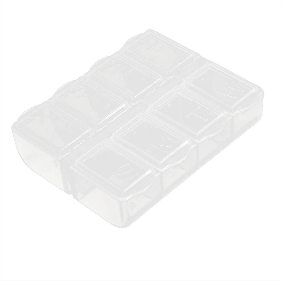 7.5cm x 6cm White Plastic 8 Components Storage Enclosure Case Box