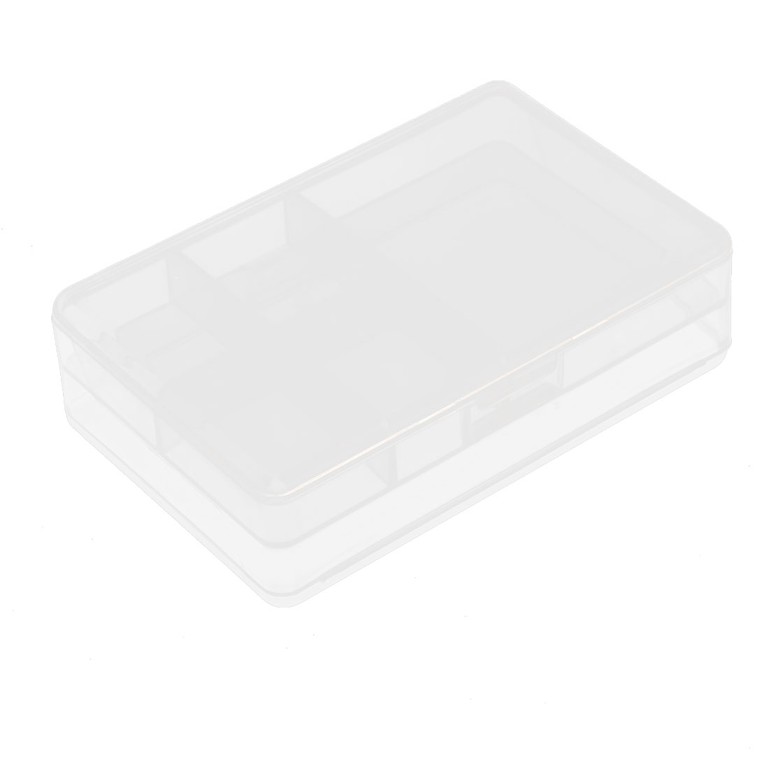 10.3cm x 6.5cm White Plastic 6 Components Storage Enclosure Case Box