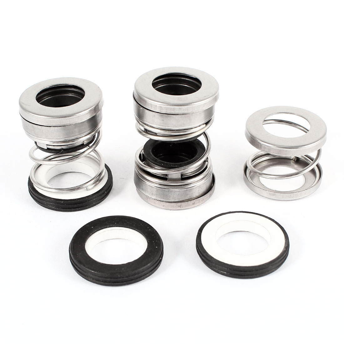 3pcs Ceramic Ring Single Coil Spring Black Rubber Bellows Water Pumps Mechanical Sealing 14mm Internal Dia