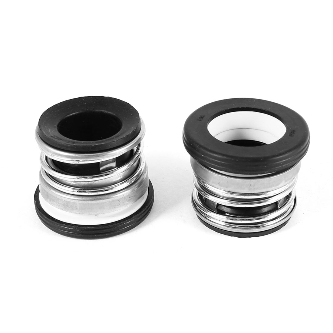 2pcs 20mm Internal Dia Single Coil Spring Black Rubber Bellows Water Pumps Mechanical Seal
