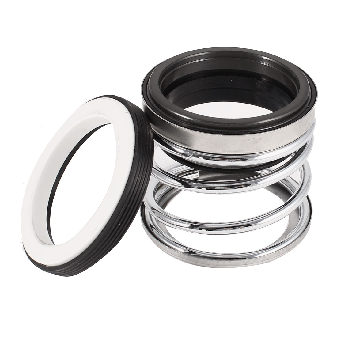 Black Rubber Bellows 45mm Internal Dia Single Coil Spring Mechanical Sealing for Water Pump