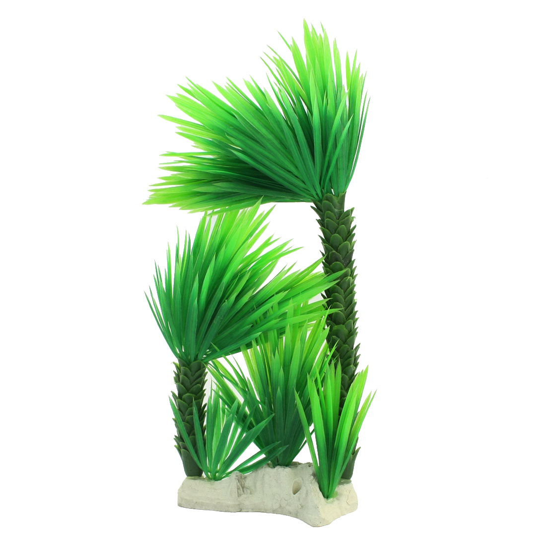 Fish Tank Aquarium Landscaping White Ceramic Base Green Plastic Tree Shaped Water Grass Plant 30cm High