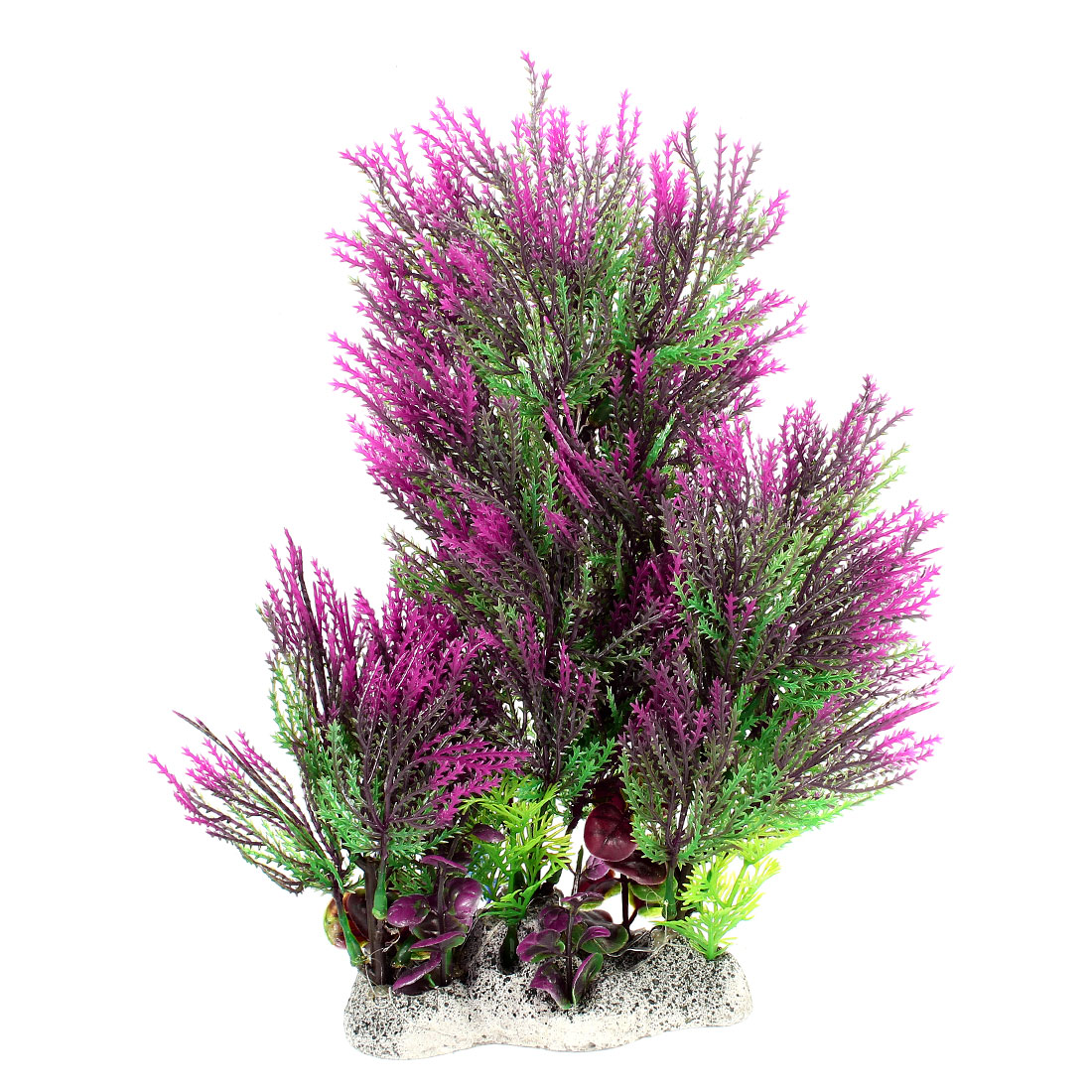 27cm Height Emulational Green Purple Leaf Water Plant Glass for Fish Tank Aquarium Decor