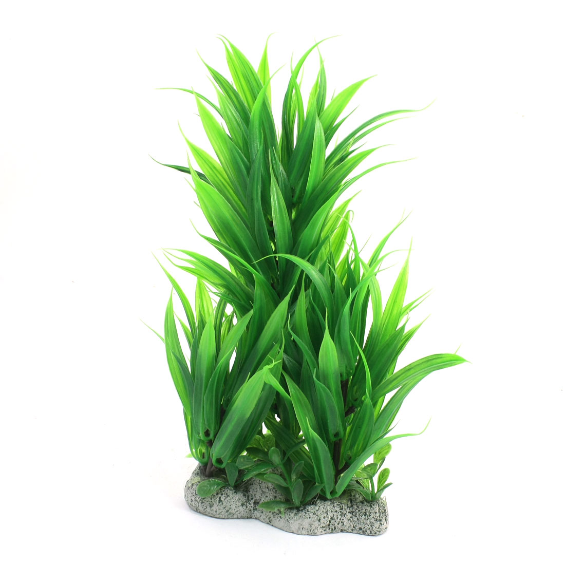 26cm Height Emulational Green Plastic Water Plant Glass for Fish Tank Aquarium Decor