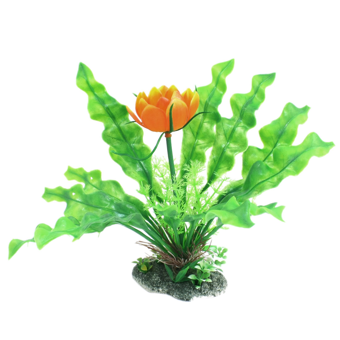 20cm High Emulational Green Plastic Water Plant Glass for Fish Tank Aquarium Decoration