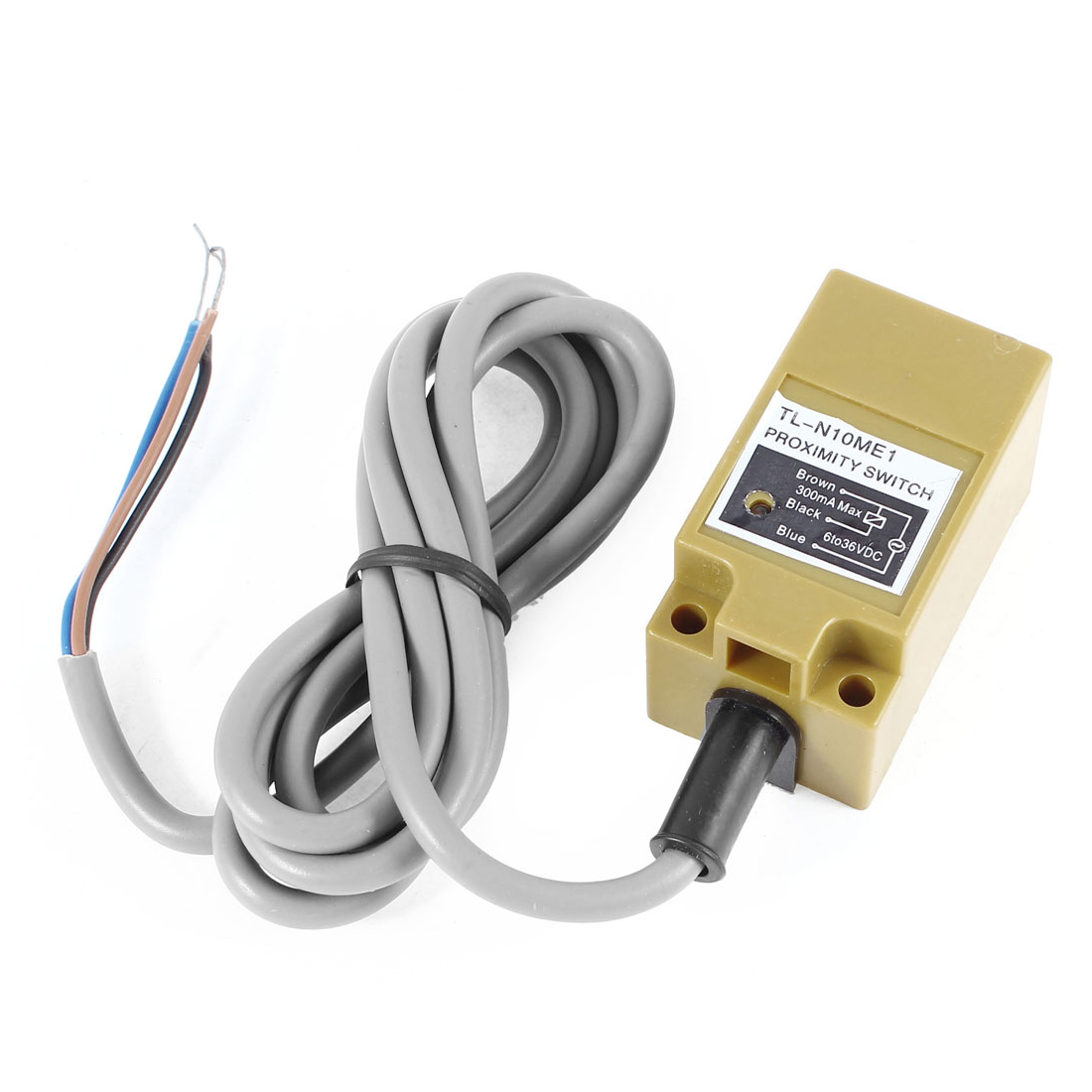 TL-N10ME1 3-wires DC 6-36V 300mA 8mm NPN Normal Open Square Inductive Proximity Sensor Detection Switch