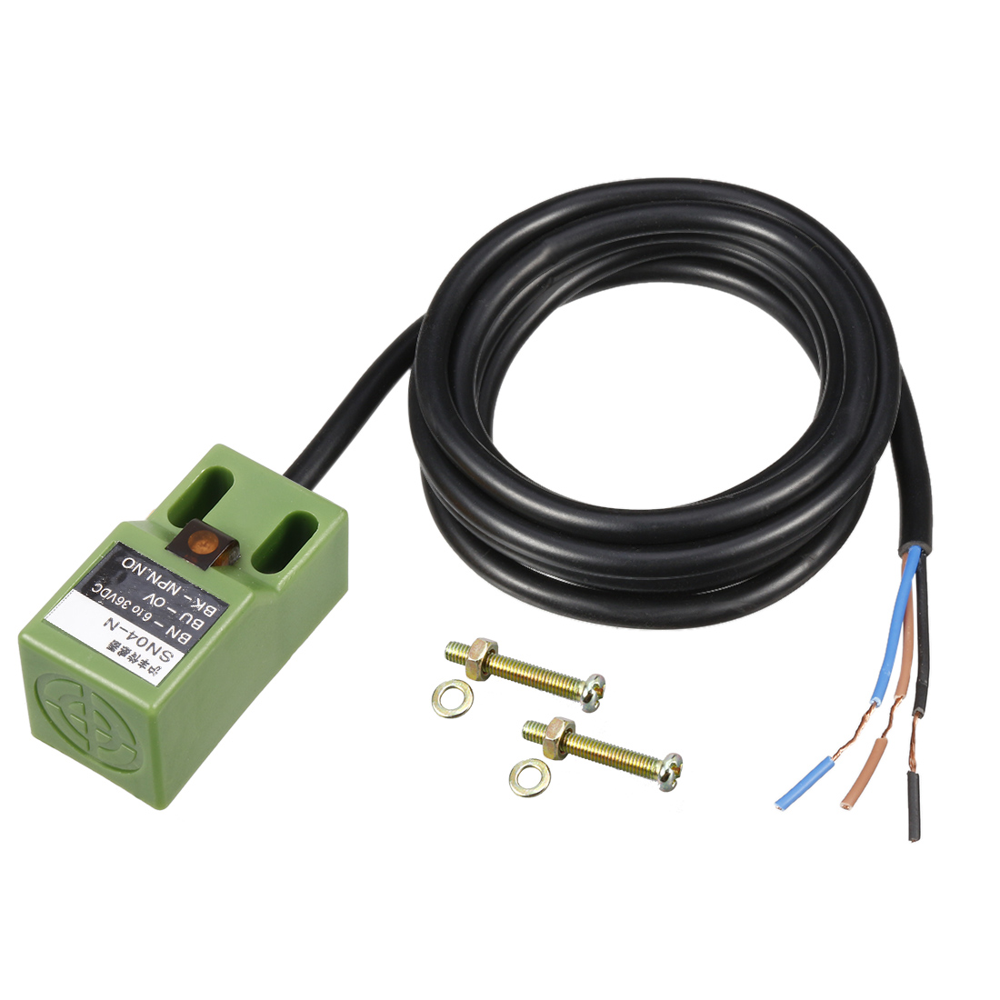 SNO4-N 3-wires DC 6-36V 300mA 5mm NPN Normal Open Square Inductive Proximity Sensor Detection Switch
