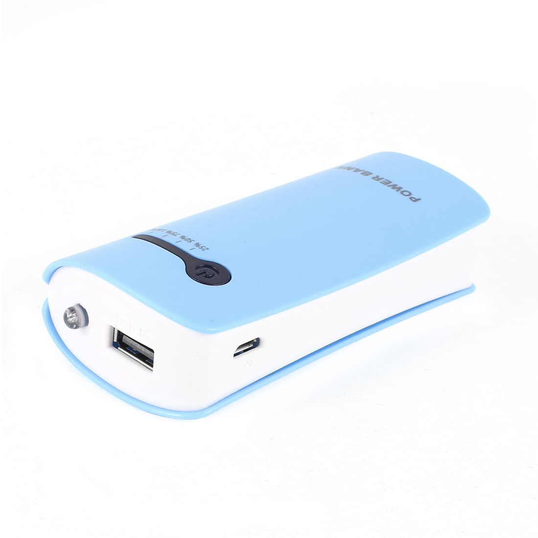 LED Flashlight 5600mAh USB External Battery Charger Phone Power Bank Baby Blue