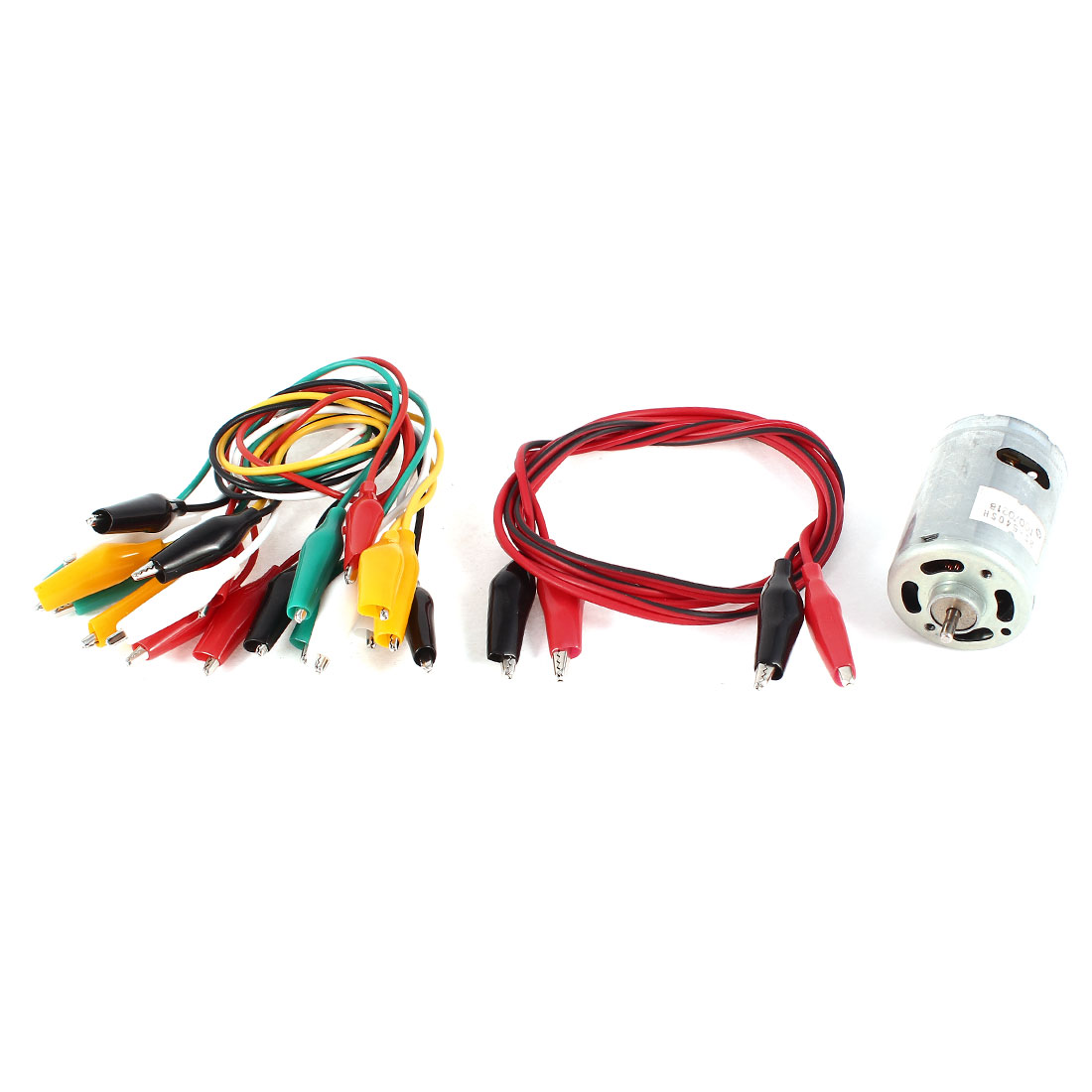 11 Pcs Single/Dual Double-ended Wire Test Leads Alligator Clips Jumper Set + RS-540SH Motor DC 6-12V