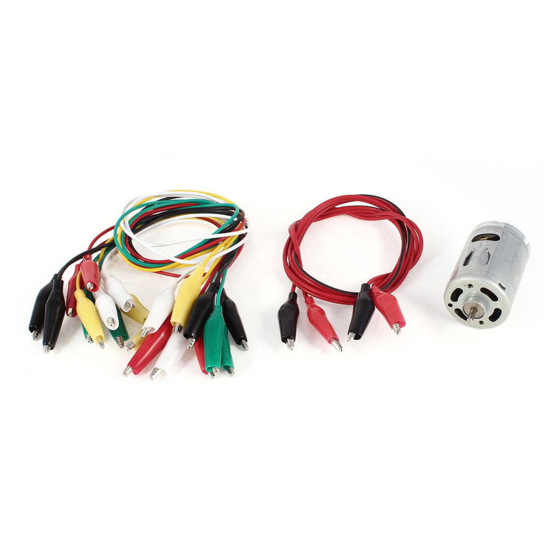 11 Pcs Single/Dual Double-ended Wire Test Leads Alligator Clips Jumper + RS-540SH Motor DC 6-12V