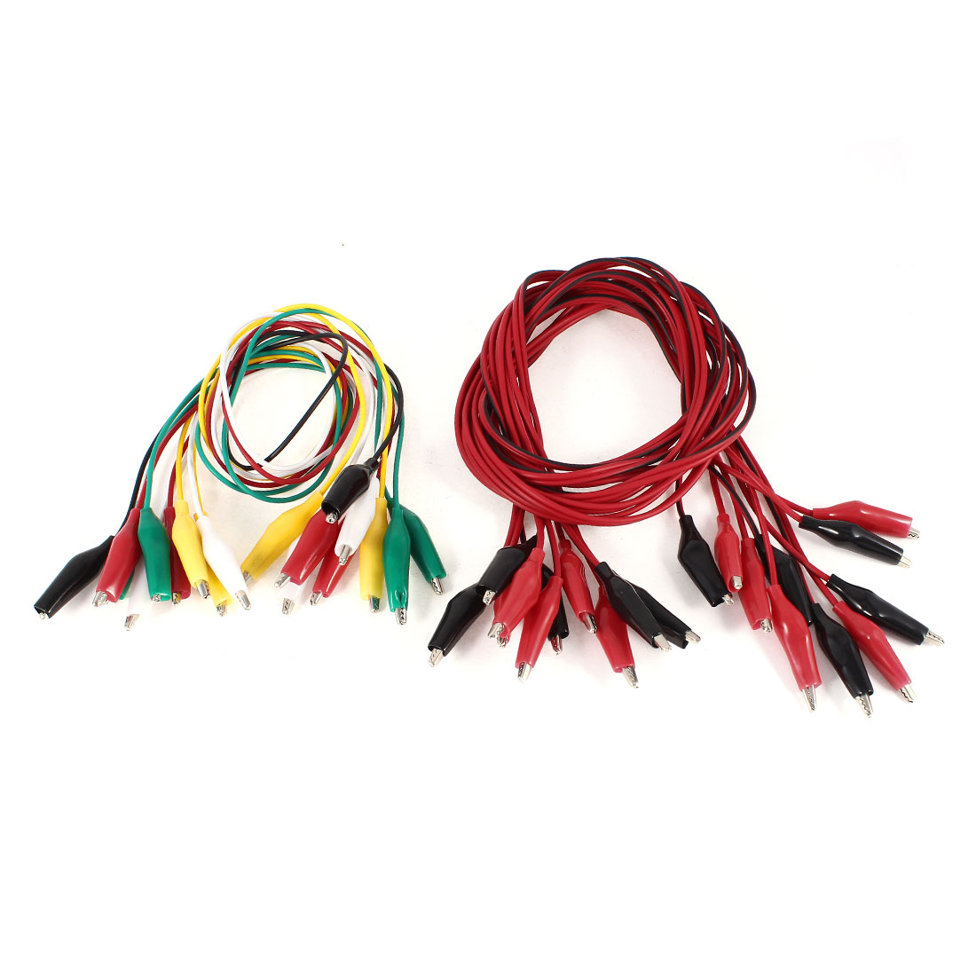 15 Pcs Single/Dual Double-ended Wire Testing Work Alligator Clips Jumper