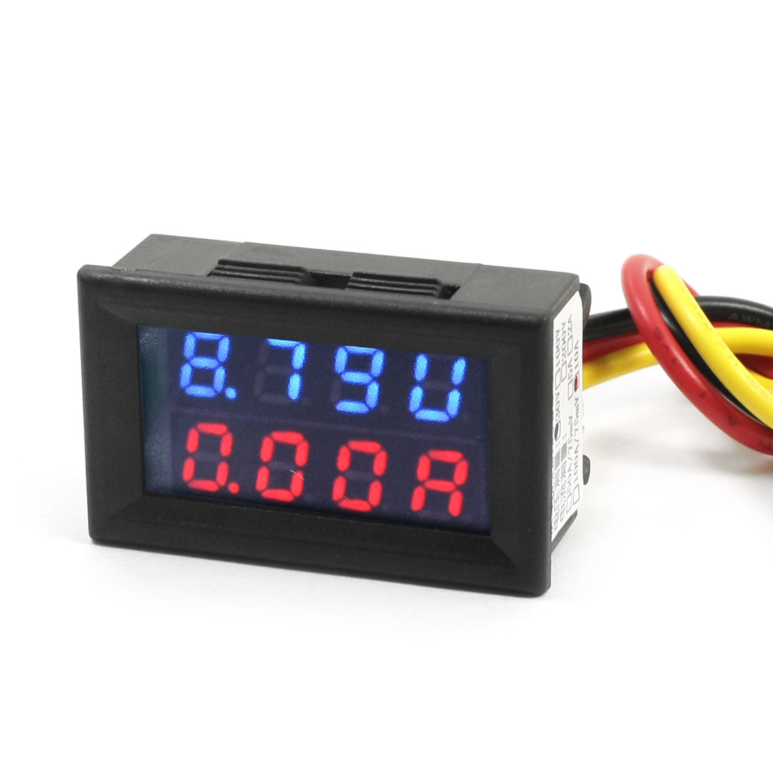 DC 0-30V 0-10A Blue Red Dual LED Digital Volt Voltmeter Ammeter Gauge
