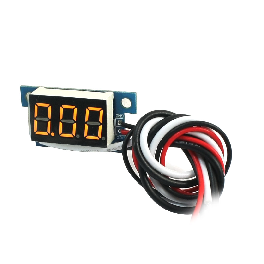 Digital DC 0-1A Yellow LCD Display Current Tester Gauge Panel Ammeter Meter