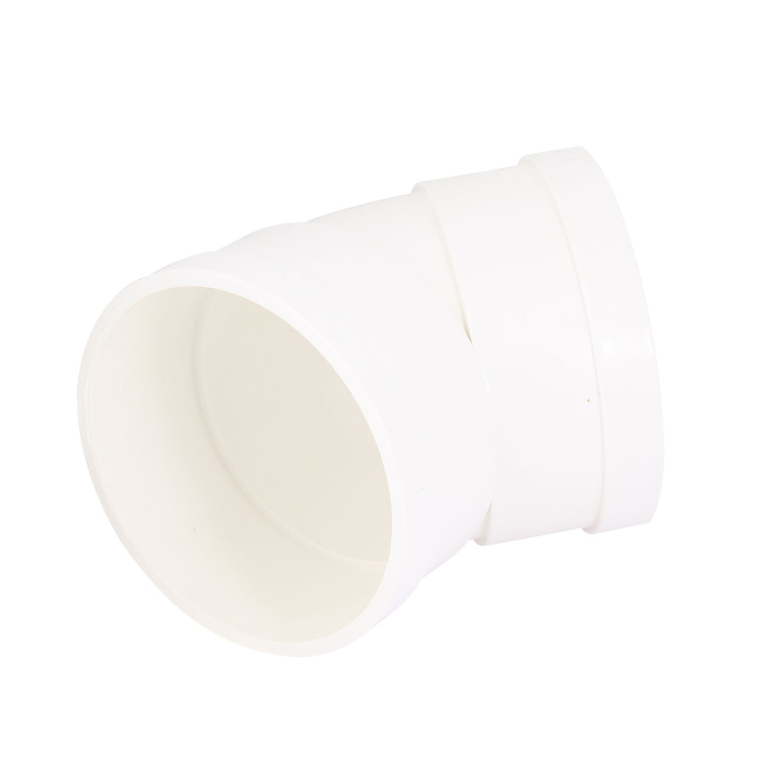 2 Pcs White PVC 110mm Inner Dia 45 Degree Design Pipe Tube Connector